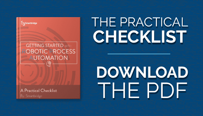 Practical Checklist to RPA