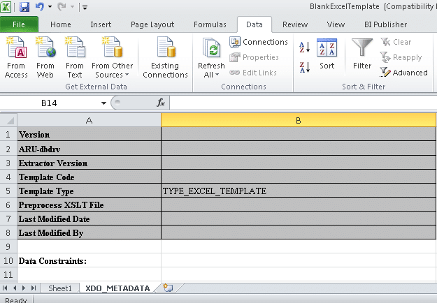 10 steps to designing an excel template for embedded bi for Date format in xml publisher template
