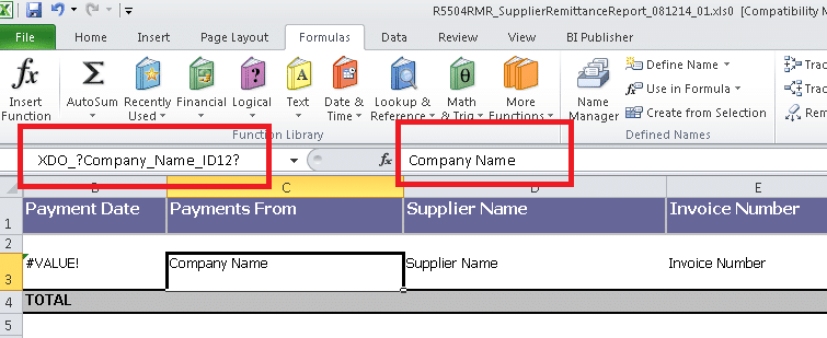 Creating RTF Templates by Using BI Publisher 11g Template